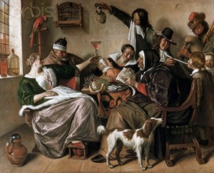 The Way You Hear it is the Way You Sing it by Jan Steen