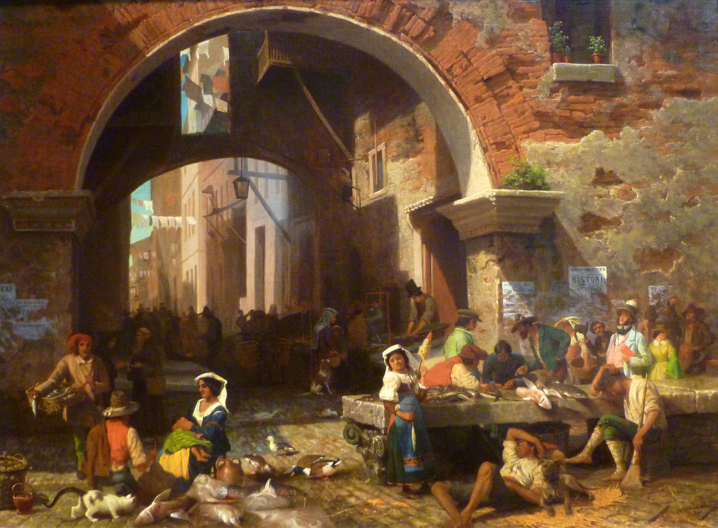 Albert bierstadt a pigment of your imagination for Empire fish market
